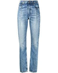 Maison Margiela Jeans mit Saumdetail - Blau