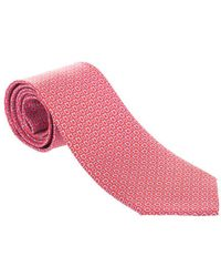 Ferragamo Red Silk Tie