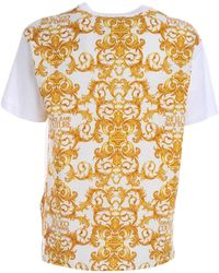 Versace Jeans Couture T-Shirt mit Barock-Print - Weiß