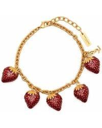 Saint Laurent Armband mit Erdbeeranhängern - Mettallic