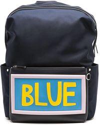Fendi Blue Polyamide Backpack