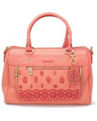Desigual Pink Polyurethane Handbag