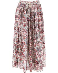 Antik Batik Multicolour Cotton Skirt - Pink