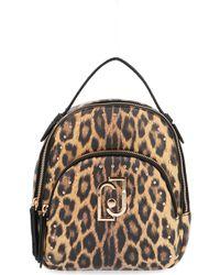 Liu Jo Brown Faux Leather Backpack