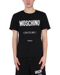 Moschino ANDERE MATERIALIEN T-SHIRT - Schwarz