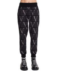 Undercover Valentino Edition Patterned Joggers - Black