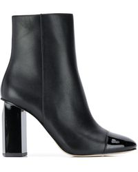 Michael Kors Leather Ankle Boots - Black