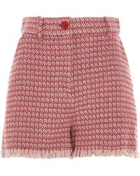 Pinko - ANDERE MATERIALIEN SHORTS - Lyst