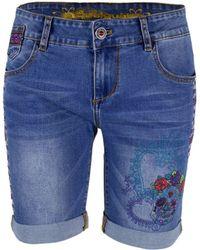 Desigual Blue Cotton Shorts