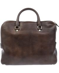 Orciani Brown Leather Briefcase