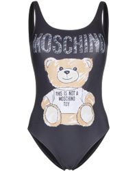 Moschino - Black Polyester One-piece Suit - Lyst