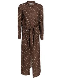 P.A.R.O.S.H. ANDERE MATERIALIEN KLEID - Braun