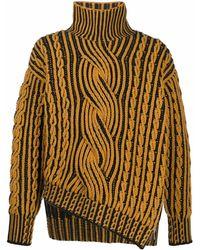 Alexander McQueen Zip-detail Cable Knit Jumper - Black