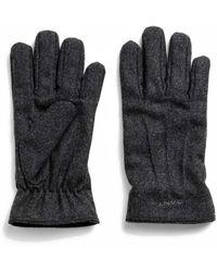GANT Grey Wool Gloves - Gray
