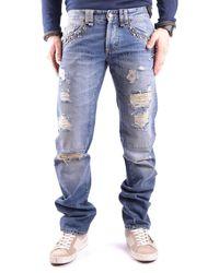 John Galliano Men's Mcbi130084o Blue Cotton Jeans
