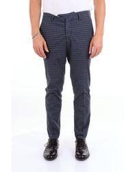 Michael Coal Blue Cotton Pants