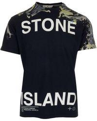 Stone Island BAUMWOLLE T-SHIRT - Blau