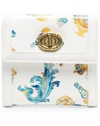 Versace Jeans Couture Polyurethane Wallet - White
