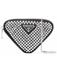 Prada Handtasche mit Kristallen - Schwarz