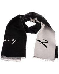Givenchy Black Wool Scarf