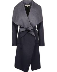 Michael Kors Blue Wool Coat