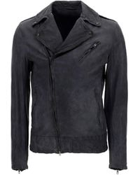 Salvatore Santoro 40514u Leather Outerwear Jacket - Grey