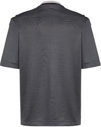 Fendi T-Shirt mit Stern-Patch - Grau