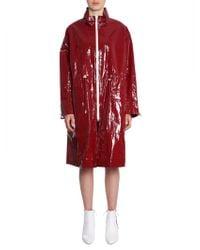 Isabel Marant Burgundy Polyurethane Trench Coat - Red