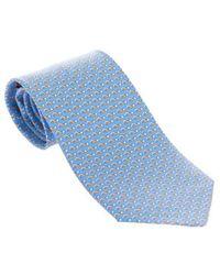 Ferragamo Light Blue Silk Tie
