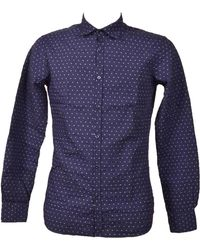 Aglini Blue Cotton Shirt