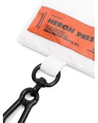 Heron Preston PVC DOKUMENTENMAPPE - Weiß