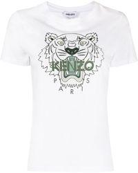 KENZO T-Shirt mit grafischem Print - Weiß