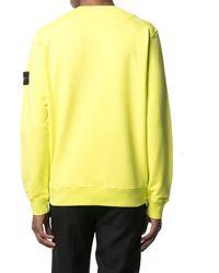 Stone Island Sweatshirt mit grafischem Print - Gelb
