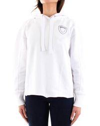 Blauer Sweatshirt - White