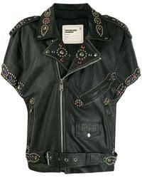 R13 - Black Leather Outerwear Jacket - Lyst