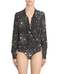 Boutique Moschino Black Silk Bodysuit