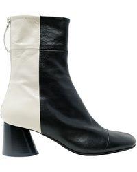 Halmanera Leather Ankle Boots - Black