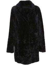 DROMe Blue Wool Coat