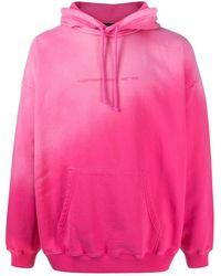DIESEL Kapuzenpullover in Batikoptik - Pink