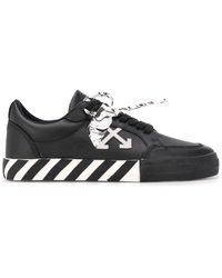 Off-White c/o Virgil Abloh Vulcan Low Leather Sneakers - Black