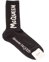 Alexander McQueen Calze 6602734d33q1078 cotone - Nero