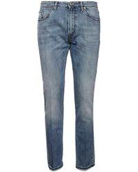 Pt05 Light Blue Cotton Trousers