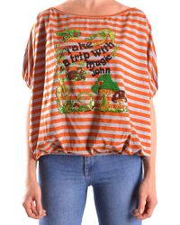 John Galliano - Orange Cotton T-shirt - Lyst