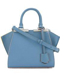 Fendi Light Blue Leather Handbag
