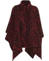 Etro Wool Poncho - Multicolor