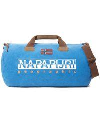 b62e8a21b Napapijri - Light Blue Polyester Travel Bag - Lyst