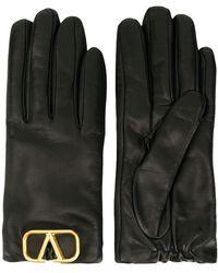 Valentino Garavani Valentino Garavani Leather Gloves - Black