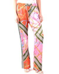 Pinko Multicolour Polyester Trousers - Pink