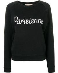 """Maison Kitsuné - Sweatshirt mit """"Parisienne""""-Print"""" - Lyst"""