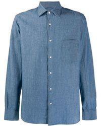Aspesi Blue Cotton Shirt